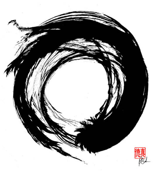 Painting - Enso / Zen Circle 15 by Peter Cutler