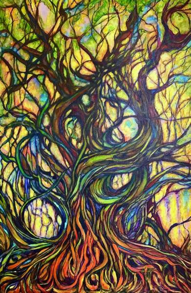 Entangled Painting - Entaglement by Rae Chichilnitsky