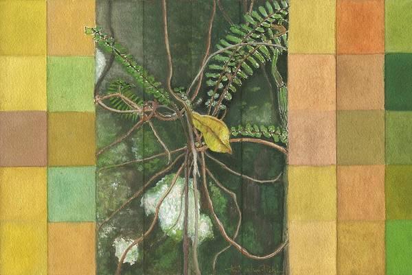 Far North Queensland Wall Art - Painting - Entanglement by Kerryn Madsen- Pietsch