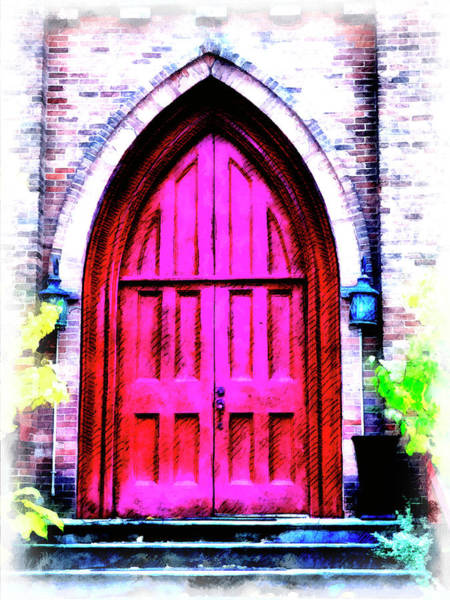 No Entry Digital Art - Enter All Ye Faithful by Leslie Montgomery