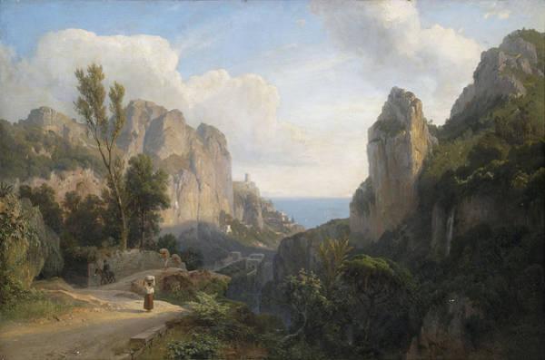 Painting - Entering Amalfi by Carl Hummel