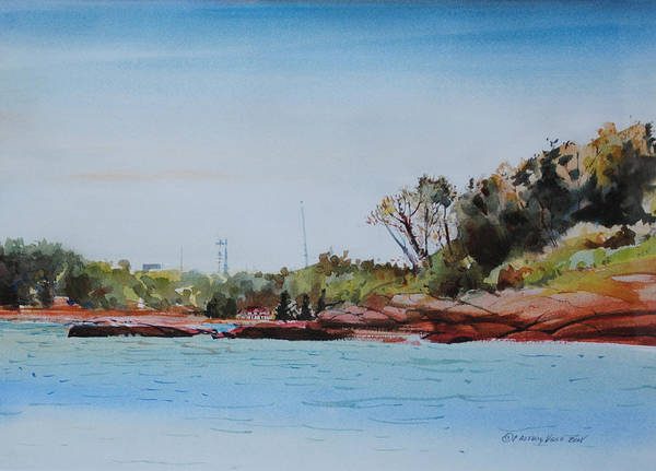 Painting - Entering Hingham Harbor 1 by P Anthony Visco