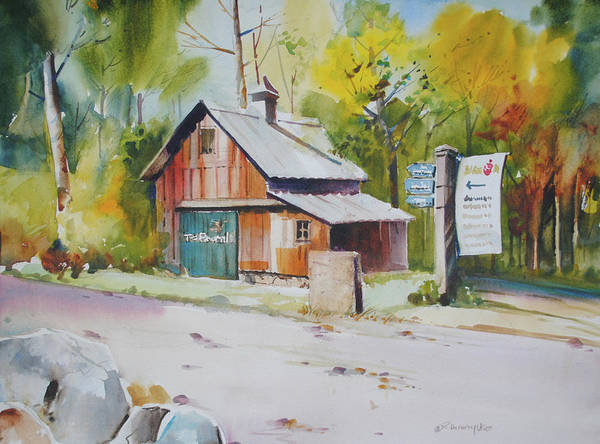 Painting - Entering Pine Hills by P Anthony Visco