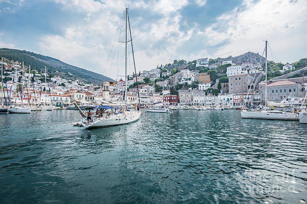 Photograph - entering port Hydra by Hannes Cmarits