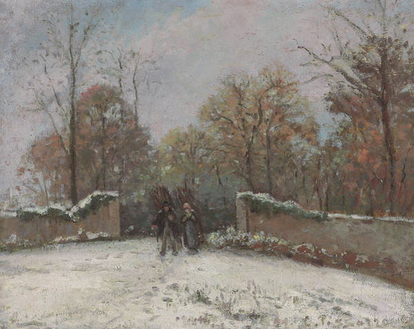 Wall Art - Painting - Entering The Forest Of Marly by Camille Pissarro