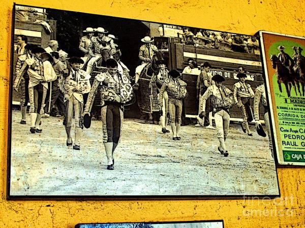 Matador Photograph - Entering The Ring by Mexicolors Art Photography