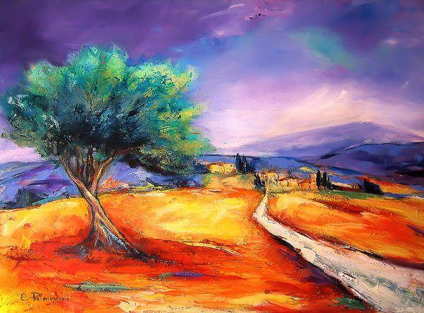 Painting - Entering The Village by Elise Palmigiani