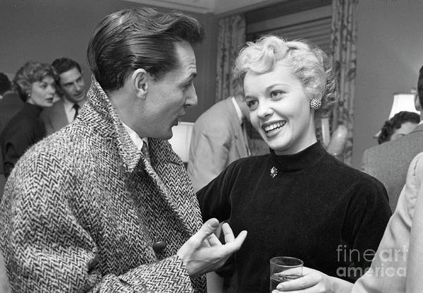 Entertainer Photograph - Entertainer Jaye P. Morgan At A Party, 1954 by The Harrington Collection