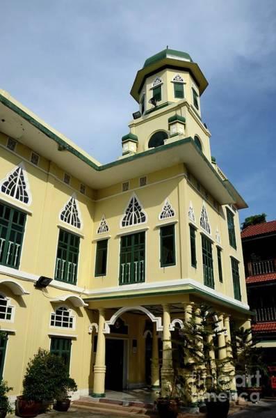 Photograph - Entrance Arch And Main Minaret Of Chakkaphong Mosque Bangkok Thailand by Imran Ahmed