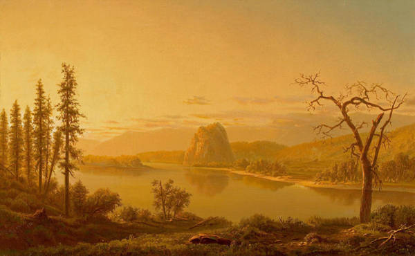 Roost Painting - Entrance Of The Columbia River Oregon With Roost by William Marple