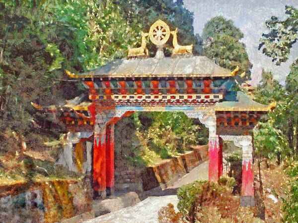 Digital Art - Entrance To A Buddhist Temple  by Digital Photographic Arts