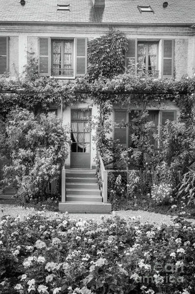 Claude Monet Photograph - Entrance To Claude Monet's Home, Giverny, Blk Wht 2 by Liesl Walsh