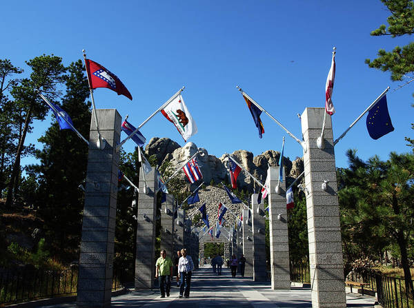 Photograph - Entrance To Mount Rushmore by Mary Capriole