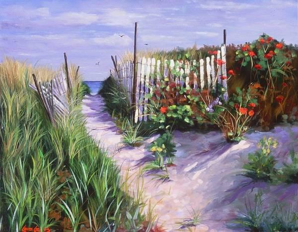 Coast Line Painting - Entrance To Nantasket by Laura Lee Zanghetti