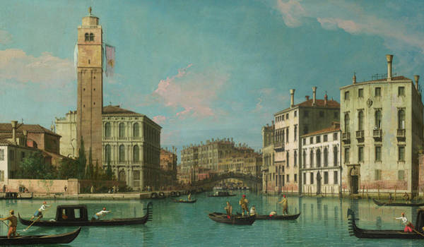 Transport Painting - Entrance To The Cannaregio by Canaletto