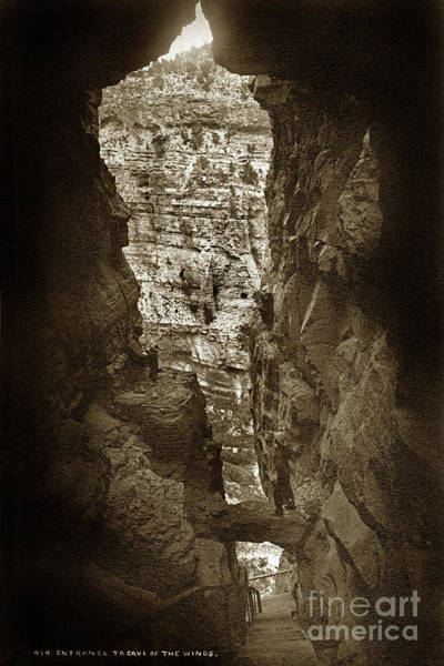 Photograph - Entrance To The Cave Of The Winds. No. 414 Circa 1880 by California Views Archives Mr Pat Hathaway Archives