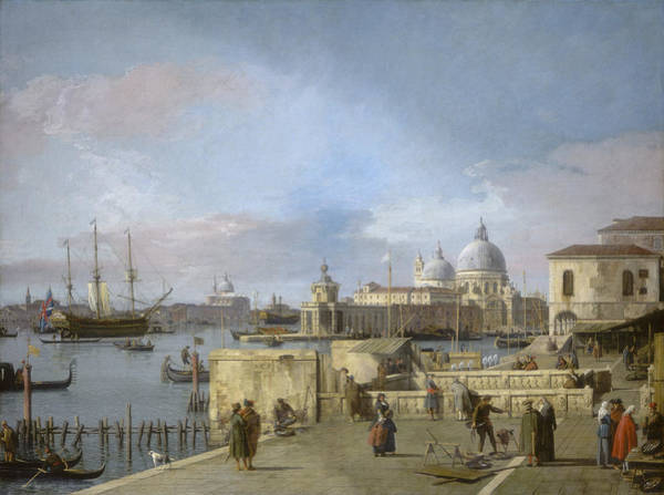 Wall Art - Painting - Entrance To The Grand Canal From The Molo - Venice by Canaletto
