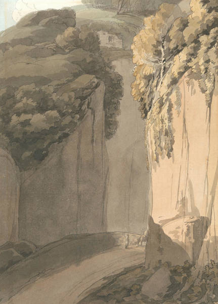 Painting - Entrance To The Grotto At Posilippo, Naples by Francis Towne