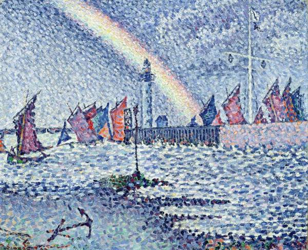 English Coast Wall Art - Painting - Entrance To The Port Of Honfleur by Paul Signac
