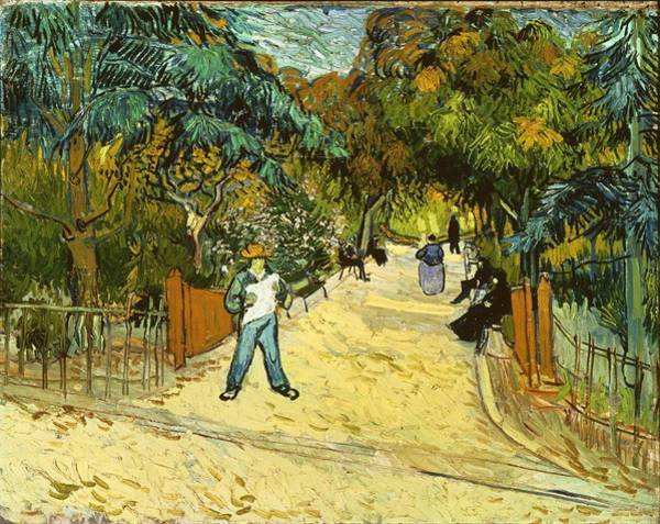 Painting - Entrance To The Public Gardens In Arles by Artistic Panda