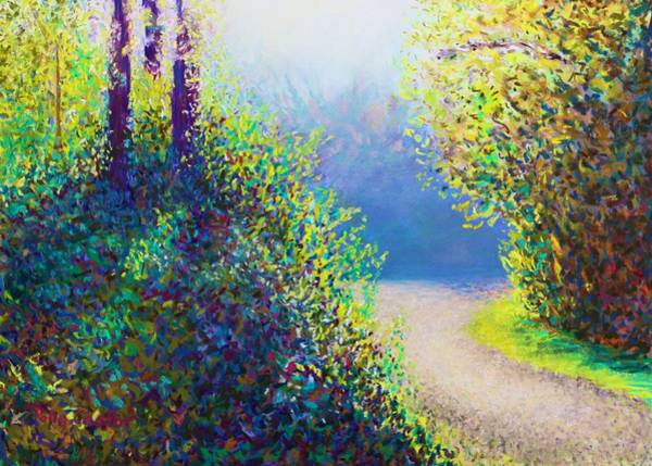 Pastel - Entrance To The Quarry In Early Fall by Polly Castor