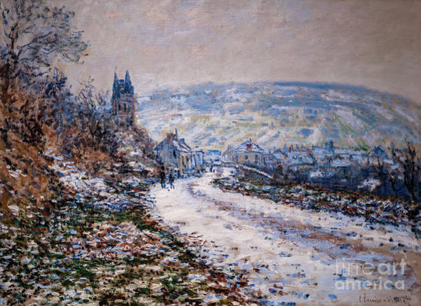 Painting - Entrance To The Village Of Vetheuil In Winter by Claude Monet