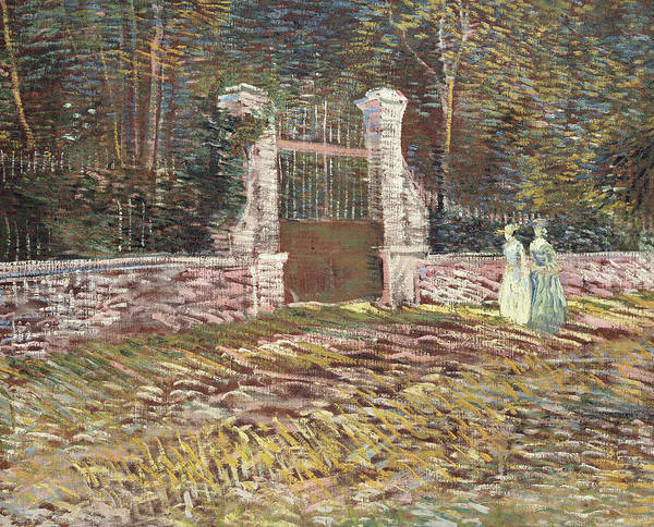 Wall Art - Painting - Entrance To The Voyer Dargenson Park At Asnieres by Vincent Van Gogh
