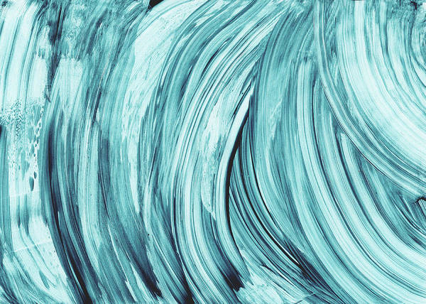Blue Wave Painting - Entranced 2- Abstract Art By Linda Woods by Linda Woods