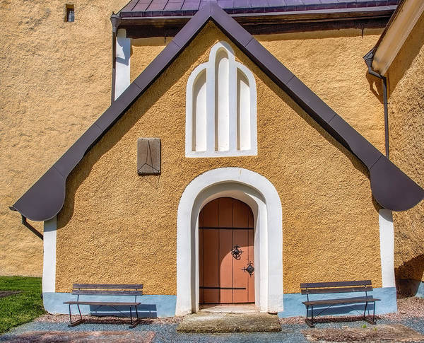 Photograph - Entre To Enkopingsnas Church May by Leif Sohlman