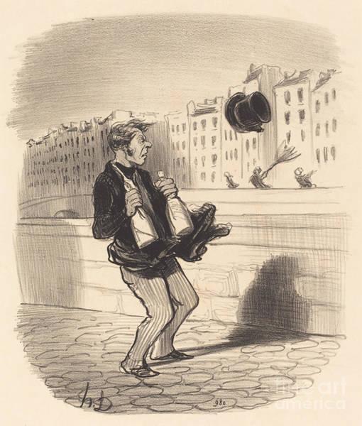 Wall Art - Drawing - Entrez Donc, Monsieur... Ne Vous G?nez Pas... by Honor? Daumier