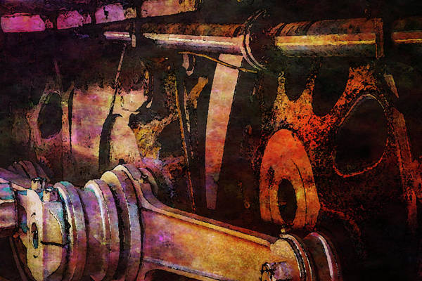 Photograph - Entropy Of Torque Digital Painting 3996 Dp_2 by Steven Ward