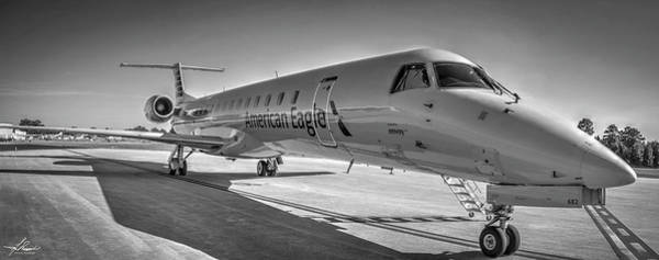 Wall Art - Photograph - Envoy Embraer Regional Jet by Philip Rispin