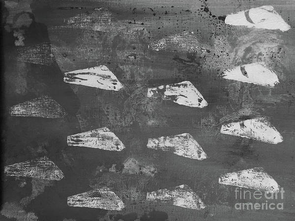 Painting - Eoliths Grayscale by Robin Maria Pedrero