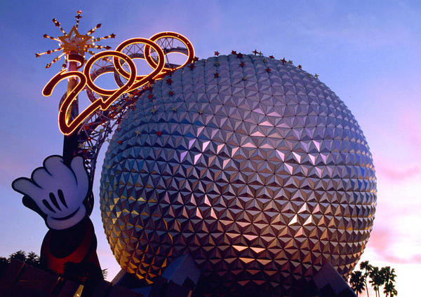 Epcot Center Wall Art - Photograph - Epcot 2000 by David Lee Thompson