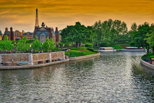 Wall Art - Photograph - Epcot Boat Ride Walt Disney World by Thomas Woolworth