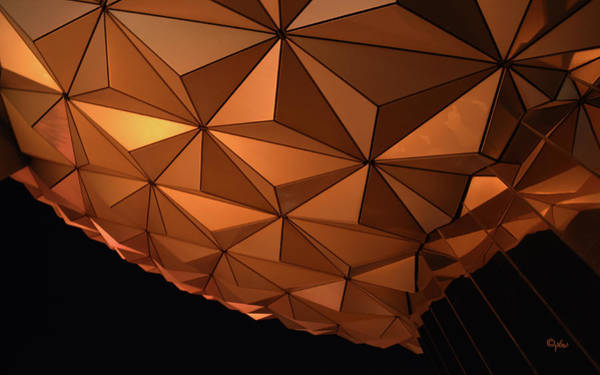 Wall Art - Photograph - Epcot Geodesic Dome I I I by Paulette B Wright