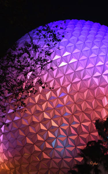 Wall Art - Photograph - Epcot Geodesic Dome I I by Paulette B Wright