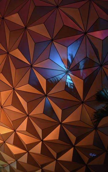 Wall Art - Photograph - Epcot Geodesic Dome I V by Paulette B Wright