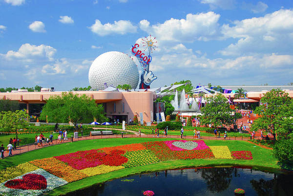 Epcot Center Wall Art - Photograph - Epcot Spring 2001 by David Lee Thompson