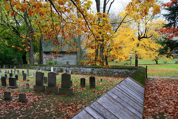 Photograph - Ephrata Cloister Cemetery by William Jobes