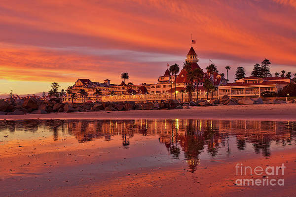 Photograph - Epic Sunset At The Hotel Del Coronado by Sam Antonio Photography