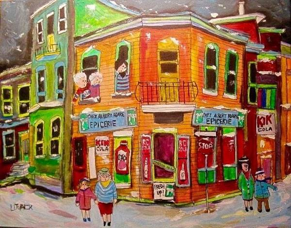 Wall Art - Painting -  Epicerie Hoare Montreal Corner Store by Michael Litvack