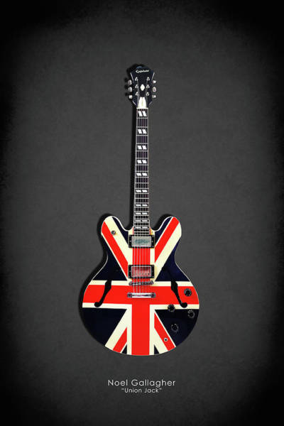 Wall Art - Photograph - Epiphone Union Jack by Mark Rogan