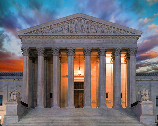 Wall Art - Photograph - Equal Justice Under Law by Daniel Hagerman