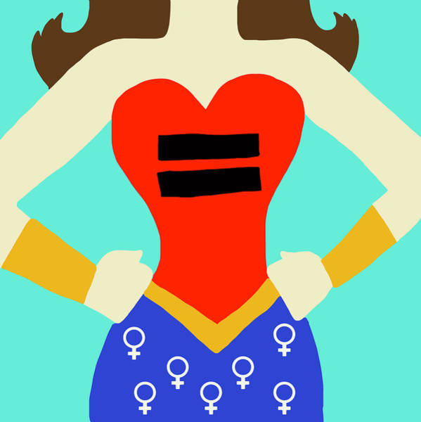 Feminist Digital Art - Equality Women's Rights by Nicole Wilson