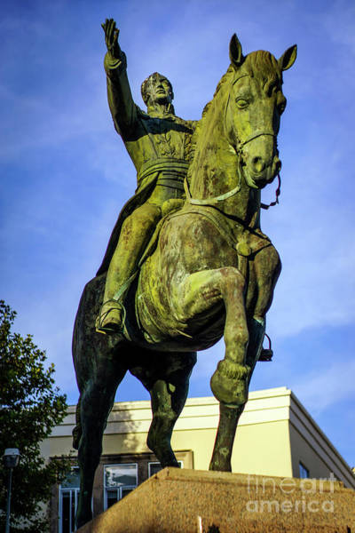 Photograph - Equestrian Monument Of Simon Bolivar Cadiz Spain by Pablo Avanzini