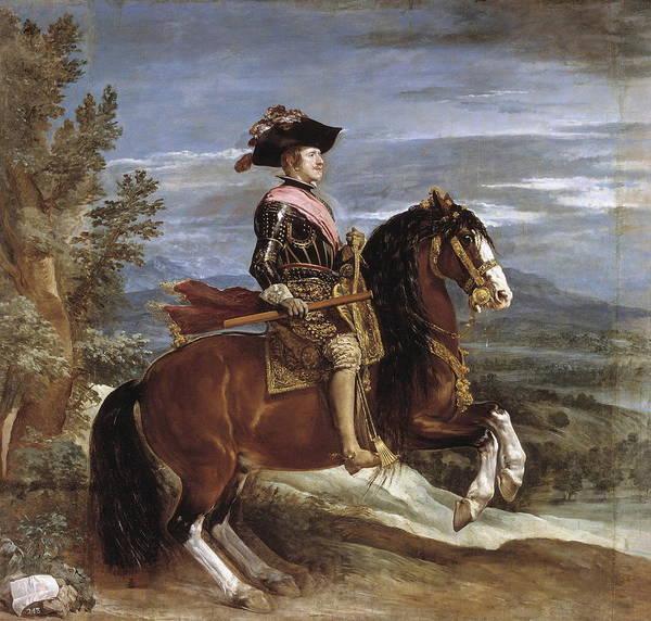 Velazquez Wall Art - Painting - Equestrian Portrait Of Philip Iv by Velazquez