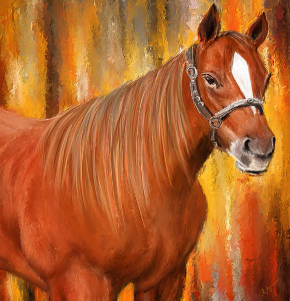 Painting - Equine Prestige - Horse Paintings by Lourry Legarde