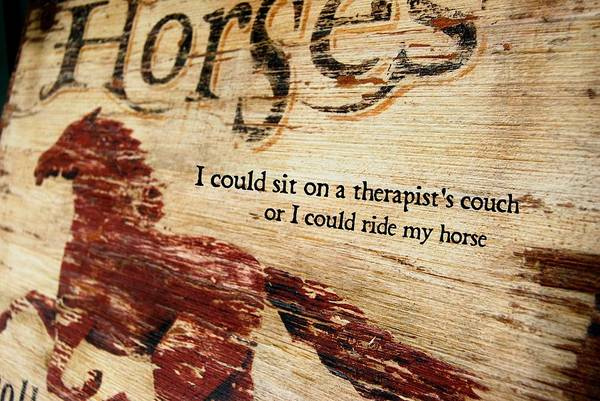 Equine Therapy Quote Art Print
