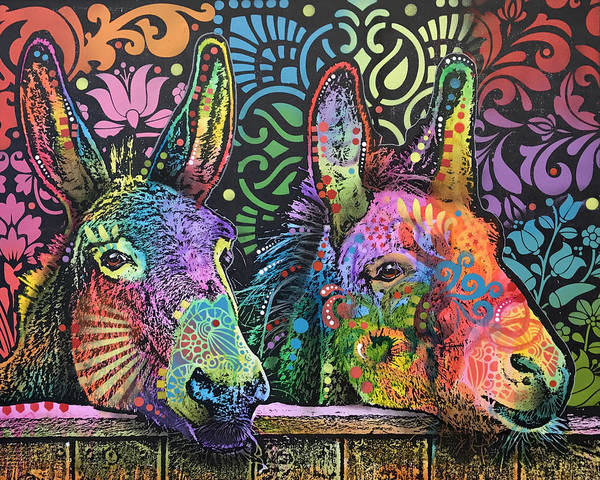 Donkey Painting - Equus Asinus by Dean Russo Art